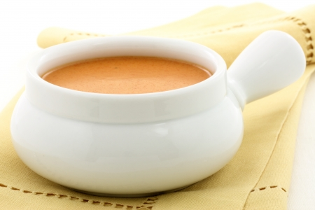 Smooth, creamy and  highly-seasoned french lobster bisque, this delicious cream soup of french origin is a classic, and can be made from lobster, crab, shrimp or crayfish Stock Photo - 14319344