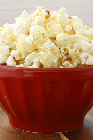Delicious box of movie popcorn healthy and delicious snack for adults and kids alike  photo