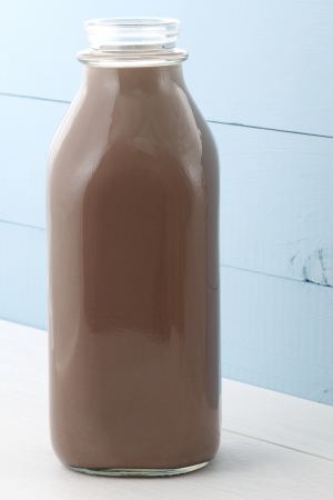 Delicious, nutritious and fresh Chocolate bottle, made with organic real cocoa mass photo
