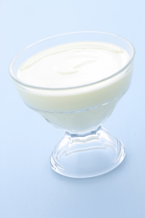 fresh and delicious creamy yogurt, healthy smooth snack, perfect at any time  photo