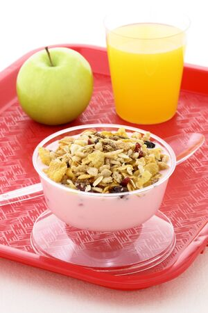 Healthy meal that grown ups and kids will love at any time or as school meal for eating well all year round  photo