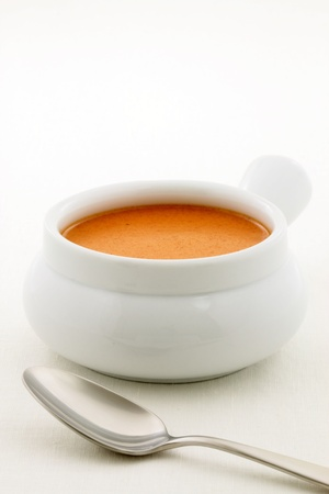 Smooth, creamy and  highly-seasoned french lobster bisque, this delicious cream soup of french origin is a classic, and can be made from lobster, crab, shrimp or crayfish. Stock Photo - 18622682