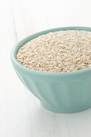 Delicious and nutritious oatmeal ingredients , the perfect healthy way to start your day. photo