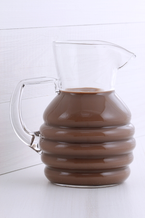 Delicious fresh chocolate milk, on vintage styling. photo
