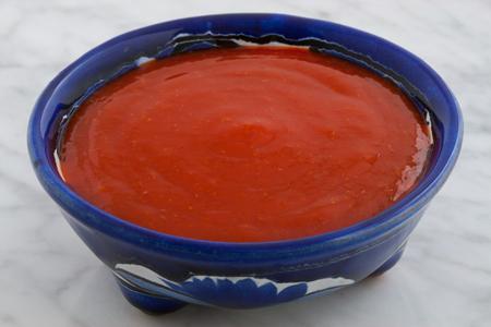 delicious mexican hot sauce on talavera bowl