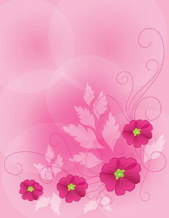 pink flower background Stock Vector - 5379287