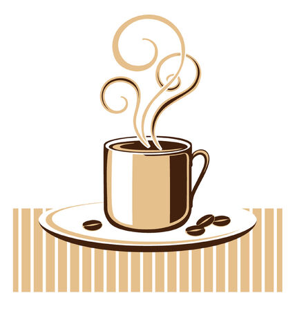 hot plate: Cup of coffee