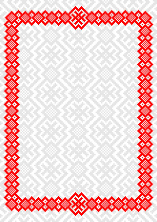Background with Slovenian Traditional Pattern Ornament Illustration