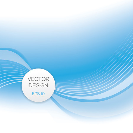 Abstract vector background with blue transparent waved.