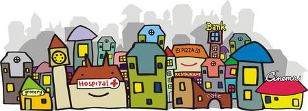 gran angular: Urbano opini�n. Ilustraci�n vectorial. Aislado en blanco. Fuentes originales por el autor. Vectores