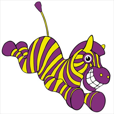 Crazy yellow-lillac zebra Vector