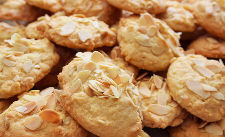Big almond cookies, Thailand. photo