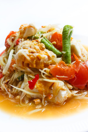 papaya salad, popular of thai food. photo