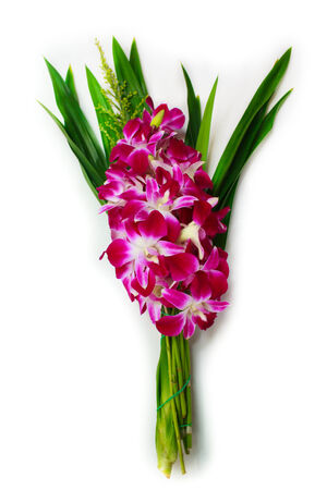 orchid for buddhist religious ceremony, thai traditional. photo