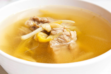 day lily: Chinese style soup with day lily and sparerib.