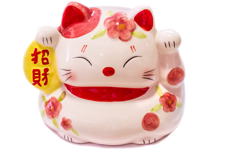 Maneki Neko, Japanese Welcoming Cat, Lucky Cat, Money cat.