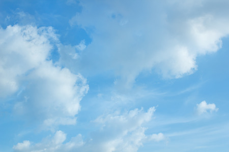 clouds in the blue sky is very beautiful. photo
