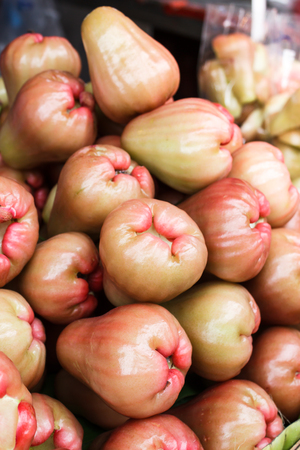 bell shaped: Rose apples on a local market, Thailand.