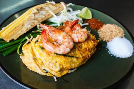 padthai: Padthai with shrimp,Thai style noodles.