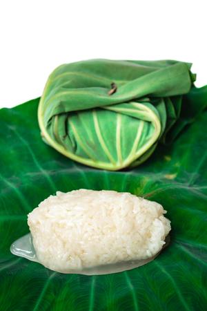 nourish: Kaomark, sweetmeat consisting of fermented glutinous rice, thai dessert.