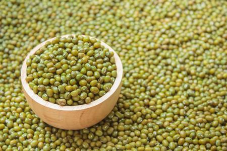 mung: Green bean or mung bean seeds background. Stock Photo