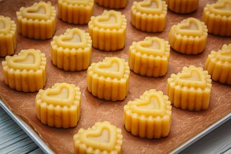 Pineapple Tarts or Pineapple cake is a sweet traditional Taiwanese pastry. Фото со стока