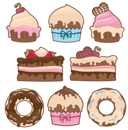 fancy cake: vector collection of cakes