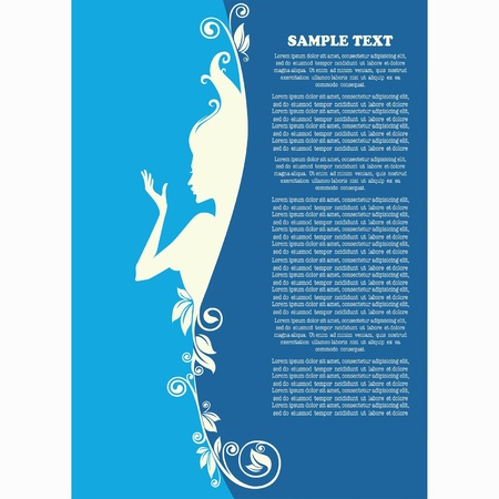 creative arts: vector background with beautiful girl silhouette and place for text