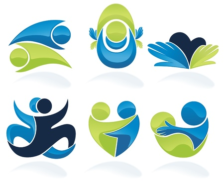 sense: set of people, love, friendship and communication Illustration
