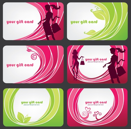 glamour shopping: collection of gift cards for your offers or discount