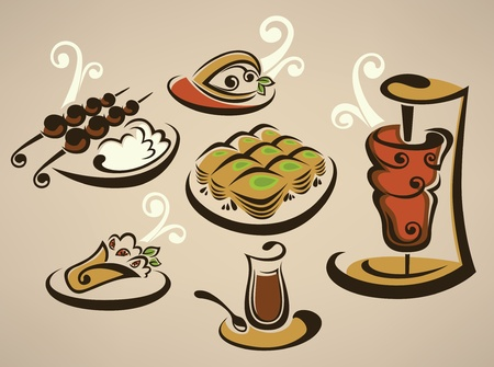 collection of arabian food images