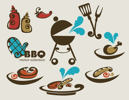 BBQ collection of symbols Vector