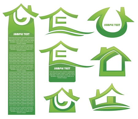 Homes and houses collection Vector