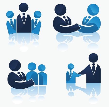 relaciones humanas: vector de colecci�n de los trabajadores de oficina y equipo de negocios Vectores