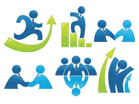la société: la collecte des affaires et le développement des symboles et des signes de bureau