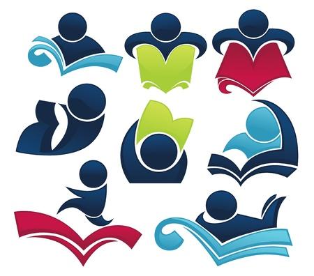 iconos educacion: colecci�n de estudiar los s�mbolos e iconos de educaci�n Vectores