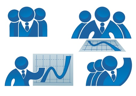 leadership development: collection of success, office workers and business team