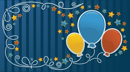 funny vector template,with ballon images and place for your text Stock Vector - 13950681