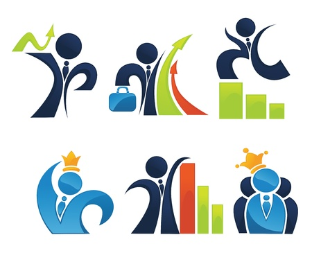 business team and leadership, collection Vector