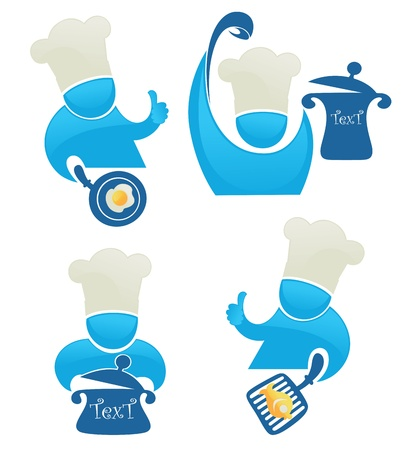 vector collection of funny cartoon cookers and food Vector