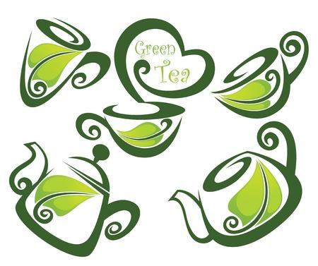 green tea Stock Vector - 15937328