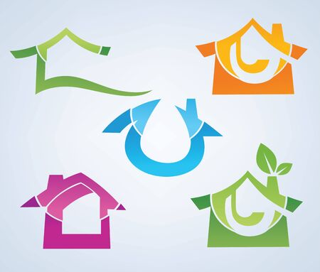 buy your own home property symbols Stock Vector - 16136001