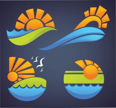 turismo ecologico: símbolos del mar, el sol y el verano