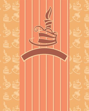 image of birthday cakes, candle and pattern background Stock Vector - 16262499