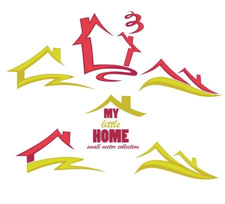 roof line: mi casita colecci�n de s�mbolos de propiedad