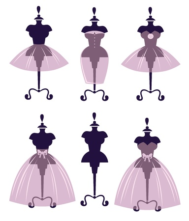 vector collection of wedding dresses