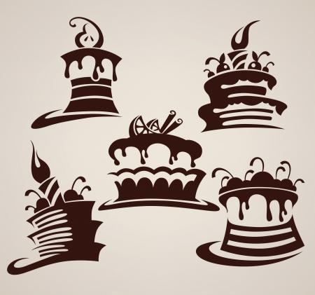 Kolekcja zdjęć ciasta i sztuki