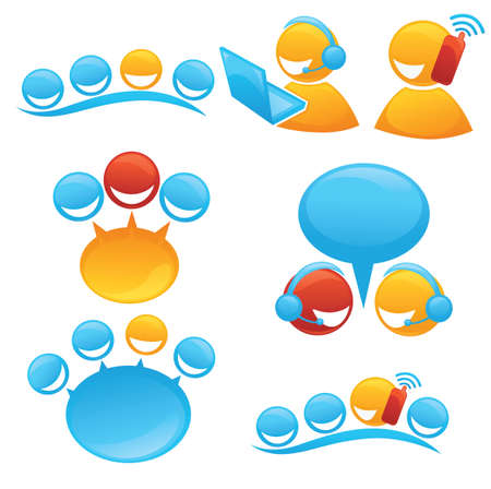 People Society And Communication Symbols And Icons Royalty Free