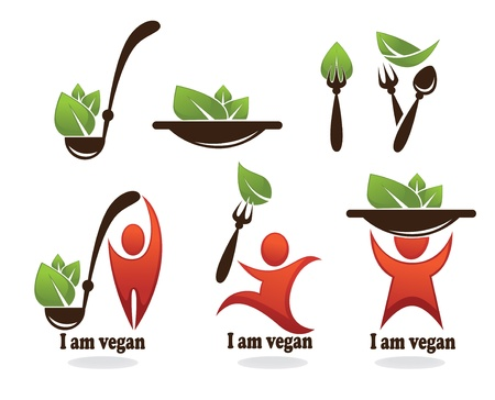 Vector collection of healthy eating, vegetarian food Illustration