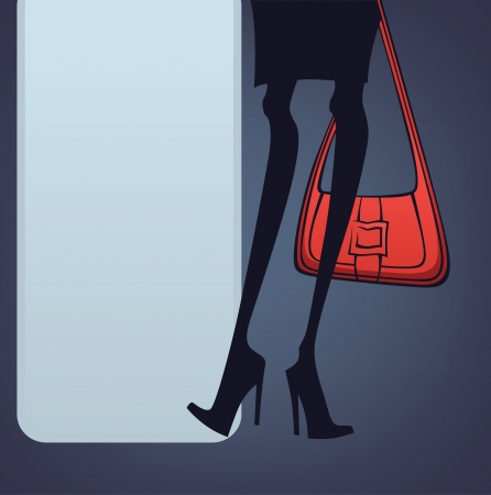 legs and bag, commercial image for fashionable shopping Vector